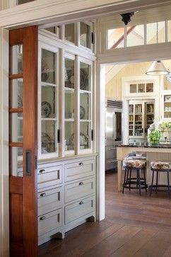 built in china hutch for nice china--would be great oppostie to wine area