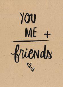 Liefde kaart - Vriendschapskaart - bruine-achtergrond-met-tekst-over-vriendschap