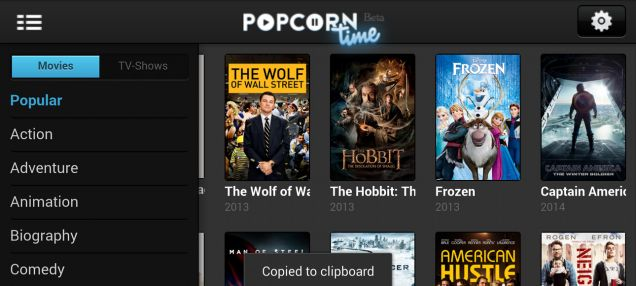 Popcorn Time for Android: Stream Movie Torrents on Your Phone for Free
