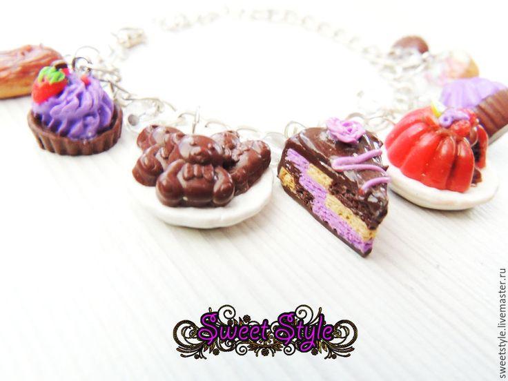 """Купить Браслет """"Сладкий стиль"""" - разноцветный, браслет, сладкий подарок, сладости, сладкий сувенир, подарок"""