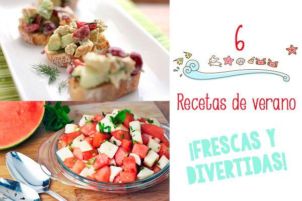 6 recetas de verano ¡frescas y divertidas! 6 recetas de verano ¡frescas y divertidas! Recetas de verano para toda la familia: ensalada de sandía, mozarella y menta, limonada de fresa, pinchos de fruta...