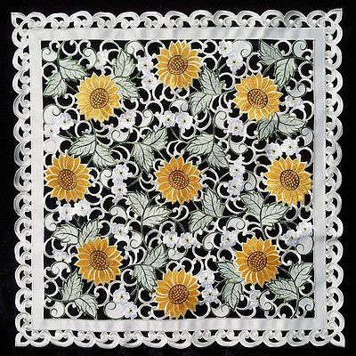 77 Best Images About Sunflower Table Cloth Runner On