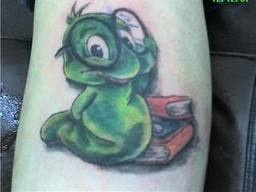 Bookworm tattoo...I actually love this