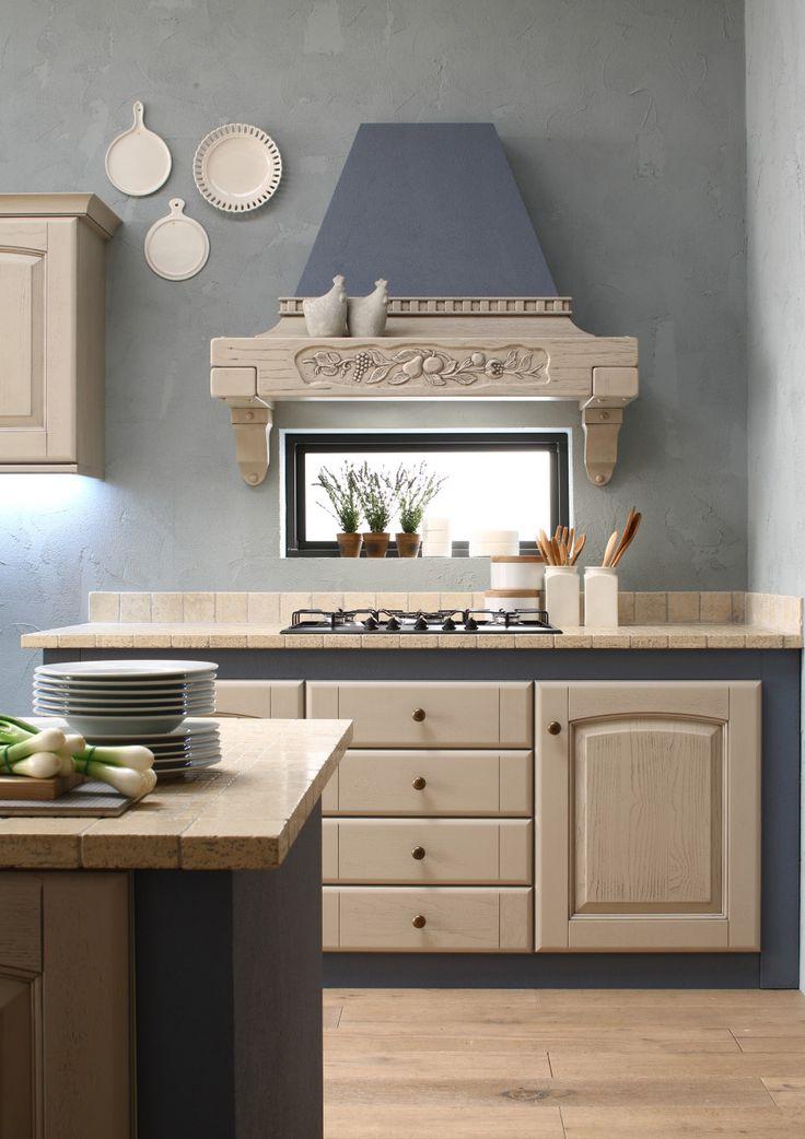 Che meraviglia le cucine Arrex in muratura con pittura colore Mirtillo!