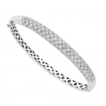 Sterling Silver SWAROVSKI Crystal Bangle. Sku: SW141100