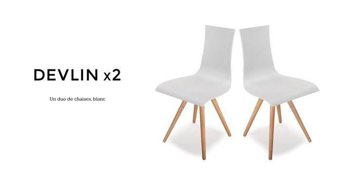 2 x Devlin chaises, blanc | made.com