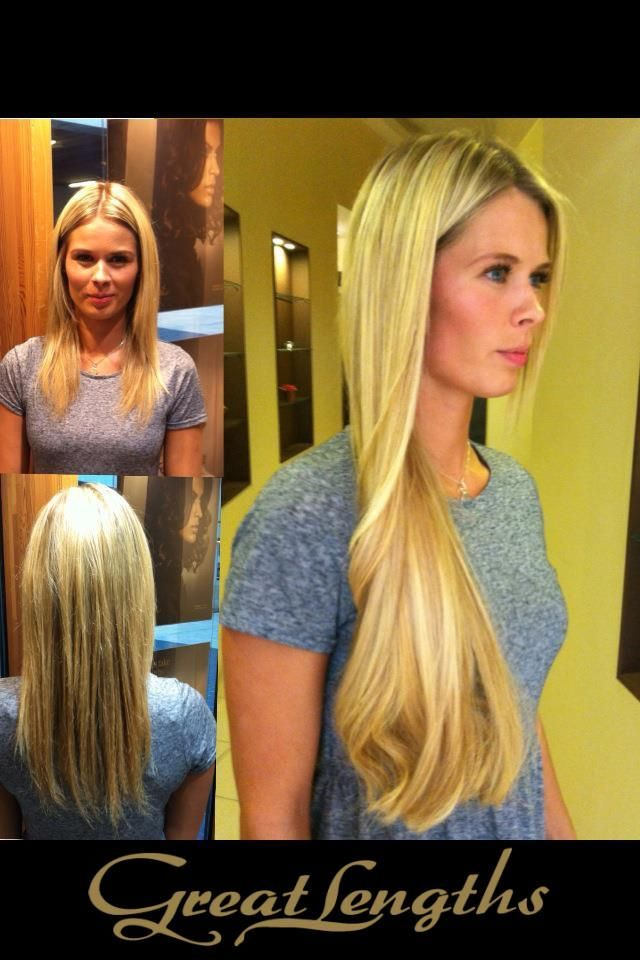 Before and after hair extensions hair (Find us on: http://greatlengths.pl/)