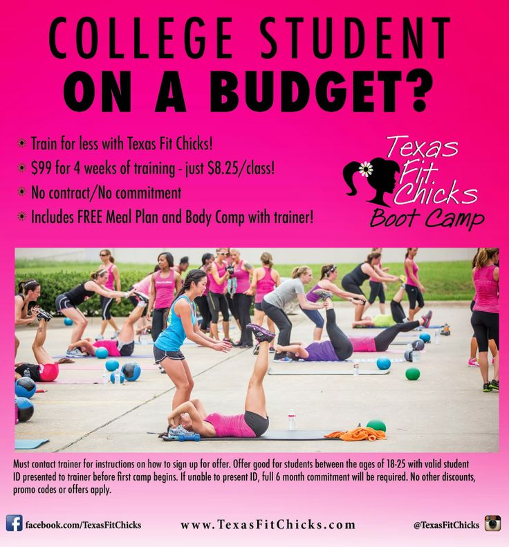 College Student On A Budget Texas Fit Chicks Has A Deal For You