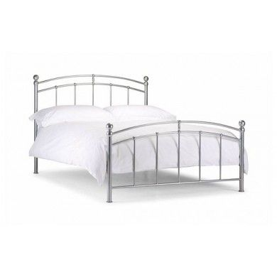 This elegant metal bed frame with bright aluminium finish is incredibly popular with older girls who want a touch of elegance in their rooms.