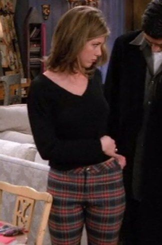 "Checked trousers | 20 Things Rachel Wore In ""Friends"" That You'd Definitely Wear Now"