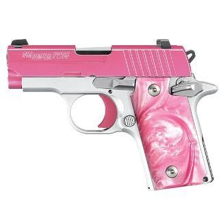 Sig Sauer 238-380-Euphoria P238 Euphoria Pistol .380 ACP 2.72in 6rd Pink Arctic Frost for sale at Tombstone Tactical.