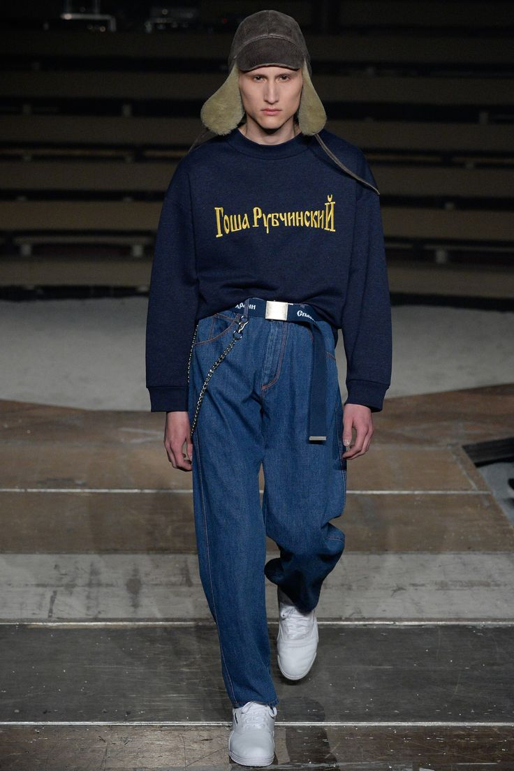 See the complete Gosha Rubchinskiy Fall 2016 Menswear collection.