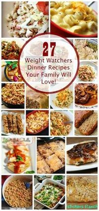 These Weight Watchers Dinner Recipes have points plus value so it's easier for you to plan your meals.