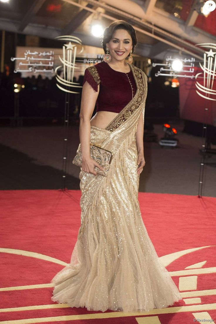 saree sari india Madhuri Dixit bollywood saree bollywood Tarun Tahiliani …