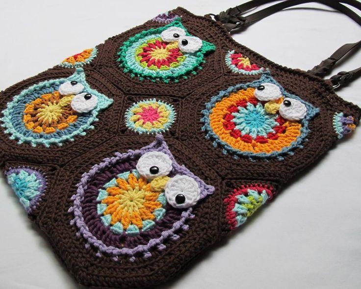 free tapestry crochet purse patterns | Owl Toteem by Marken | Crocheting Pattern