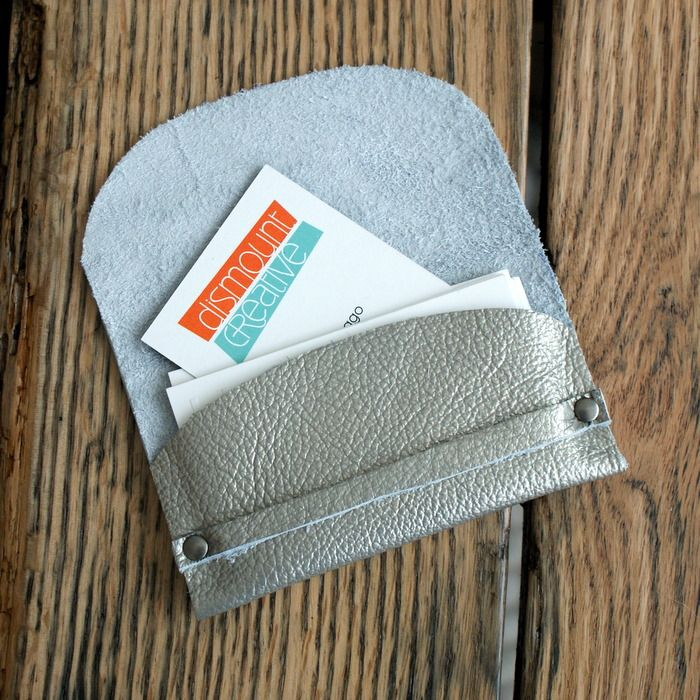 DIY: leather business card wallet