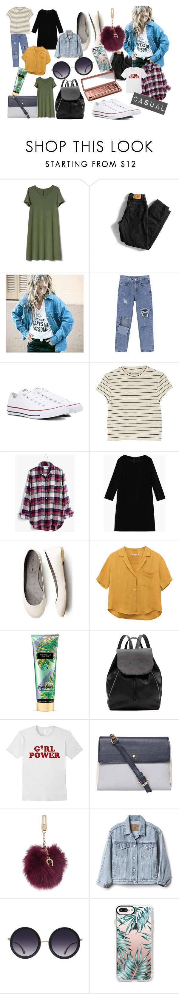 """""""casual look"""" by karimo-rimo on Polyvore featuring Gap, Levi's, Converse, Monki, Madewell, Max&Co., Victoria's Secret, Witchery, Dorothy Perkins and Etienne Aigner"""