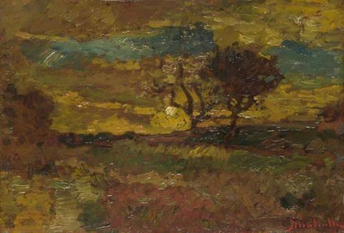 Adolphe Joseph Thomas Monticelli - Sunrise (1882-4)