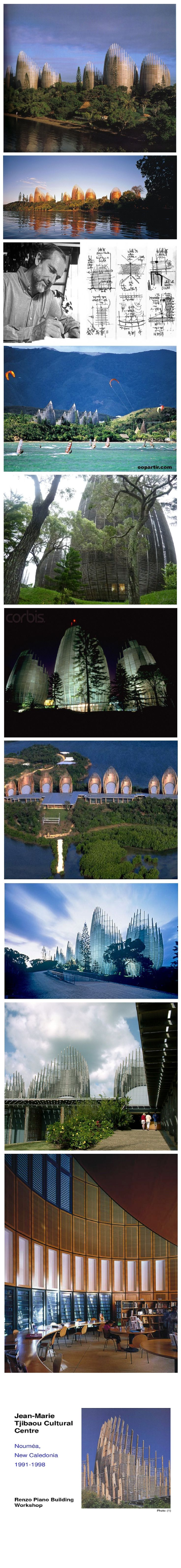 Renzo Piano's Jean-Marie Tjibaou Cultural Center On the narrow Tinu Peninsula, near Nouméa, capital of New Caledonia