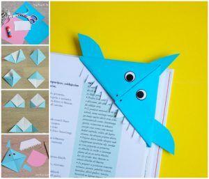 Shark Corner Bookmark Origami