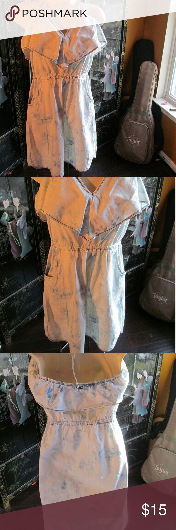 Roxy skater denim acid wash dress Perfect condition Roxy Dresses