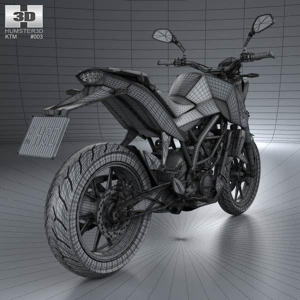 KTM 125 Duke 2011 3d model