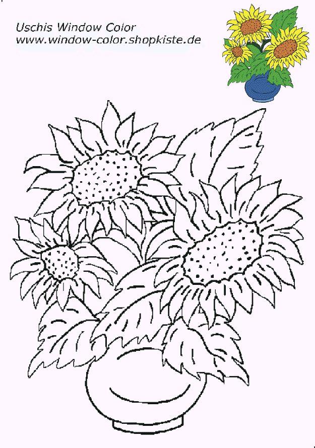 Blumen-Vorlagen 3 Blumen ausmalbilder Blumen ausmalen