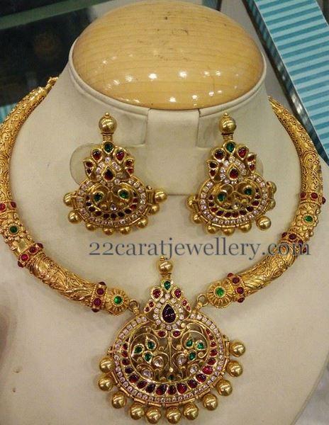 Traditional Choker CZ Chandbalis - Jewellery Designs