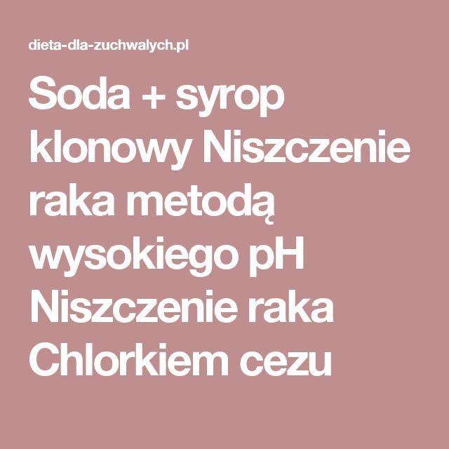Soda + syrop klonowy Niszczenie raka metodą wysokiego pH Niszczenie raka Chlorkiem cezu