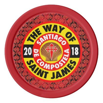 The Way of Saint James 2018 Poker Chip Set - home gifts ideas decor special unique custom individual customized individualized