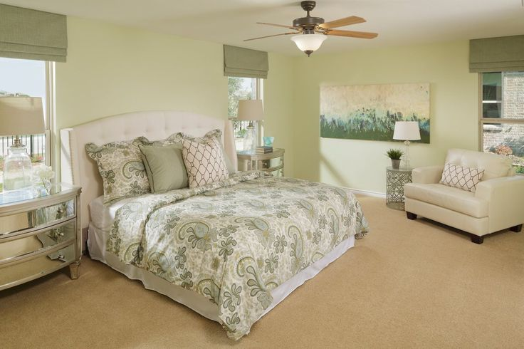 New Homes in Balch Springs, TX - Estates at Spring Ridge Plan 2806 Master Bedroom