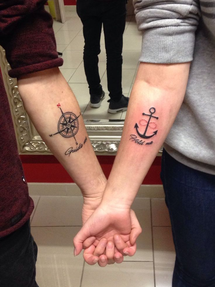 Partnertattoo Guide me & Hold me