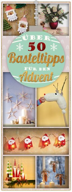 Jede Menge Inspiration fürs Weihnachtsbasteln mit Kindern!