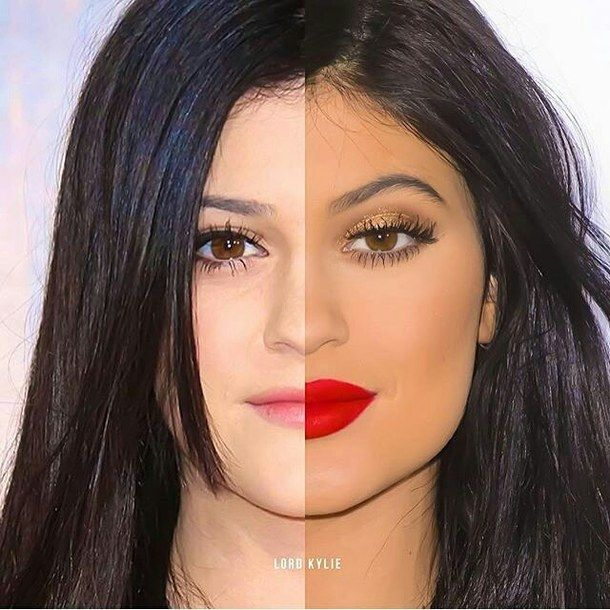 After Before Eyes Kendall Jenner Kylie Jenner Beauty