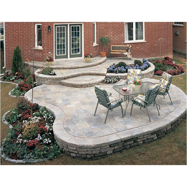 find this pin and more on patio pictures - Brick Stone Patio Designs