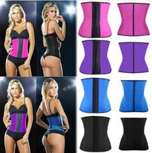 2015 New Latex Waist Training Corsets Sexy Lingerie Sport Girdle Steel Boned Corselet Bustiers hot Latex Waist Cincher Best Buy follow this link http://shopingayo.space