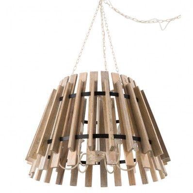 Rima 6 Light Timber Pendant