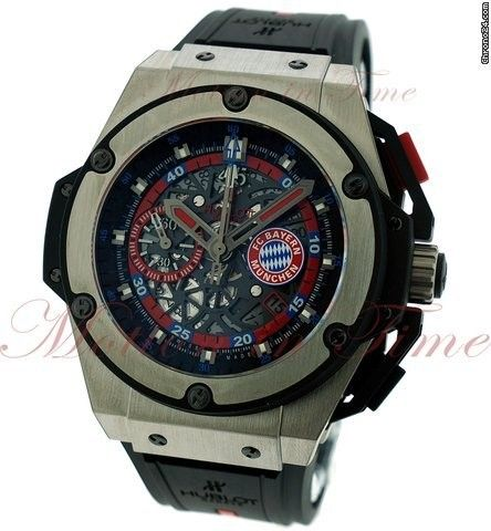 Hublot Big Bang King Power Bayern Munich, Skeleton Dial, Limited Edition to 200 Pieces - Titanium on