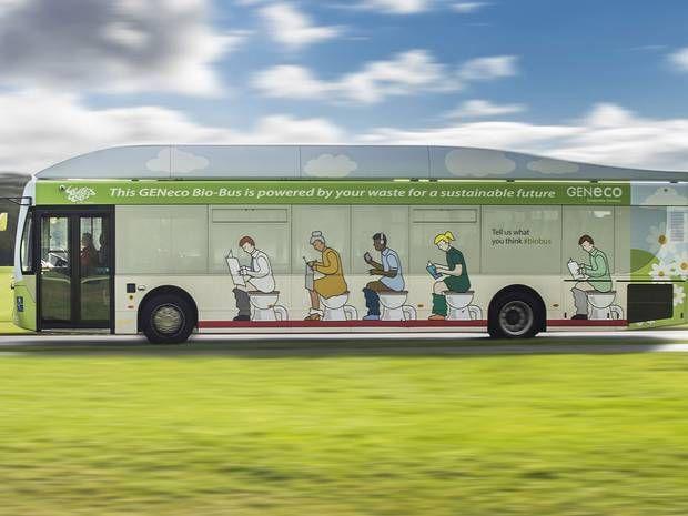 Un bus qui recycle vos excréments ... c'est vrai et tout est expliqué sur le blog de recyclagepneu.com