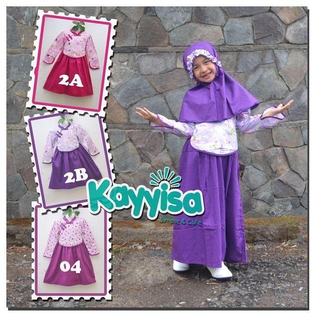Kayyisa Baju Muslim Anak Perempuan, info agen / reseller hub Telp / WA 08119702044
