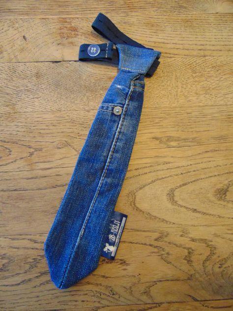 unieke handgemaakte, makkelijke medium blauwe hergebruikte jeans stropdas voor jongen / meisje maat S; 1-5 jaar, denim stropdas, spijker das door 2Bready op Etsy