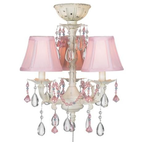 "43"" Casa Deville Pretty in Pink Pull Chain Ceiling Fan"