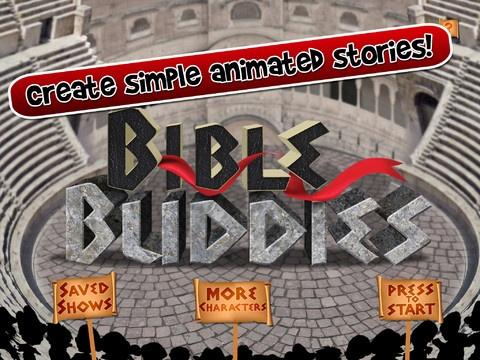 Bible buddies er gratis. Den første historie man kan lave er med Daniel i løvekulen. Hvis man giver 25 kr får man 11 bibel historier, man kan arbejde med. Appen er lavet af dem, der har lavet Puppet Pals og det er samme koncept.