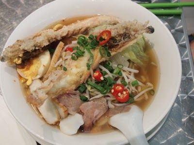 Street Food: Prawn Noodle Soup - $12 - Sam's Singapore Laksa House ~ Crow's Nest