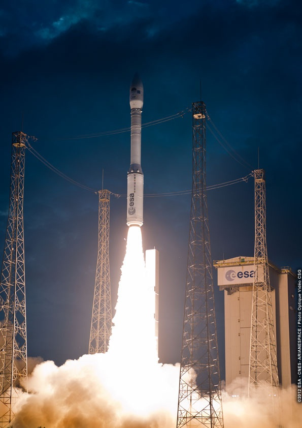 /by ESA #vega #rocket #VV01 #liftoff | Rockets | Pinterest
