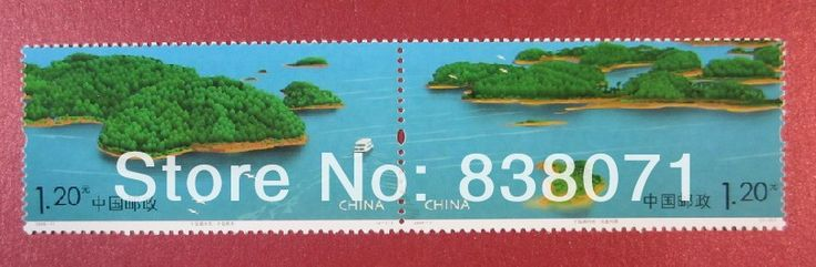 China Post, Китайские хронологические марки: тысяча островов озера пейзажи полный набор из двух 2008-11, бесплатная доставка