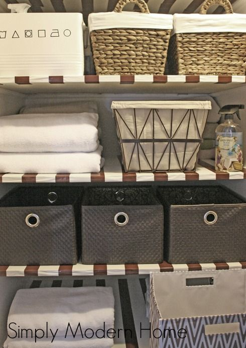 No More Teetering Stacks Of Towel Sand Sheets! Tips For Organizing The Linen  Closet/