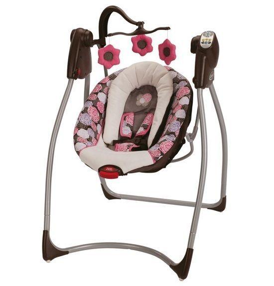 ... Infant Cradle Portable Toddler Rocker Chair Electric Bassinet #Graco