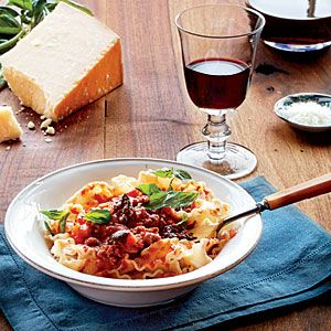 Slow-Simmered Meat Sauce with Pasta | MyRecipes.com. Need to make this ahead of time and freeze some. Looks yummy.