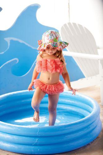 Mud Pie Baby - Mud Pie Pink Mesh Ruffle Bikini - Lollipopmoon.com only $26.00 - New Items